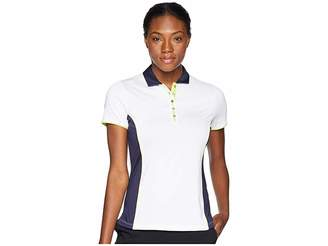 Callaway Color-Blocked Short Sleeve Polo Women's Short Sleeve Pullover