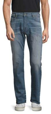 Diesel Buster Distressed Straight Leg Jeans