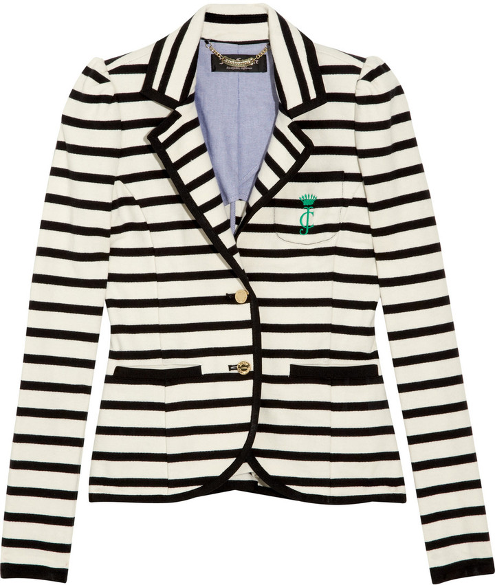 Juicy Couture Striped cotton blazer