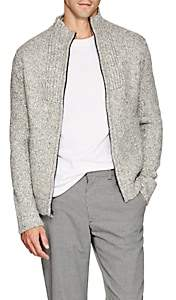 James Perse Men's Cotton-Blend Zip-Front Sweater - Gray