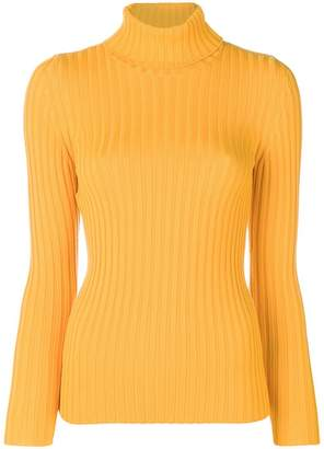 Moschino roll-neck fitted sweater