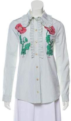 Gucci Embroidered Button-Up Top w/ Tags