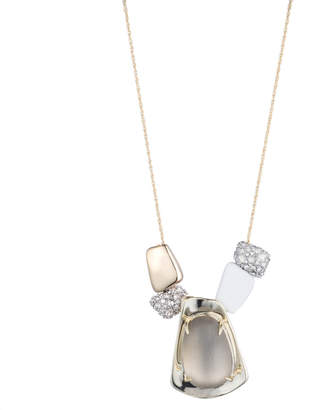 Alexis Bittar Liquid Gold Sliding Pendant Necklace