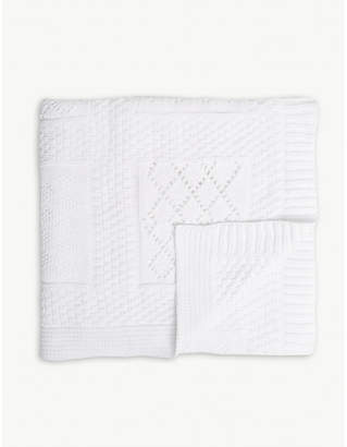 The Little White Company Patchwork cotton baby blanket