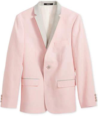 DKNY Pink & Gray Linen Sport Coat, Big Boys