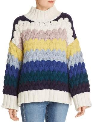 Eleven Paris Six Freye Stripe Slouchy Sweater