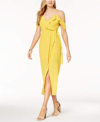 Bardot Cold-Shoulder A-Line Maxi Dress