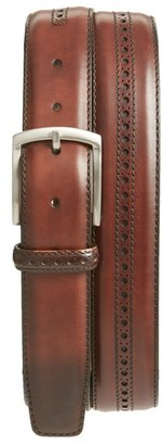 Men's Magnanni 'Guodi' Leather Belt $150 thestylecure.com