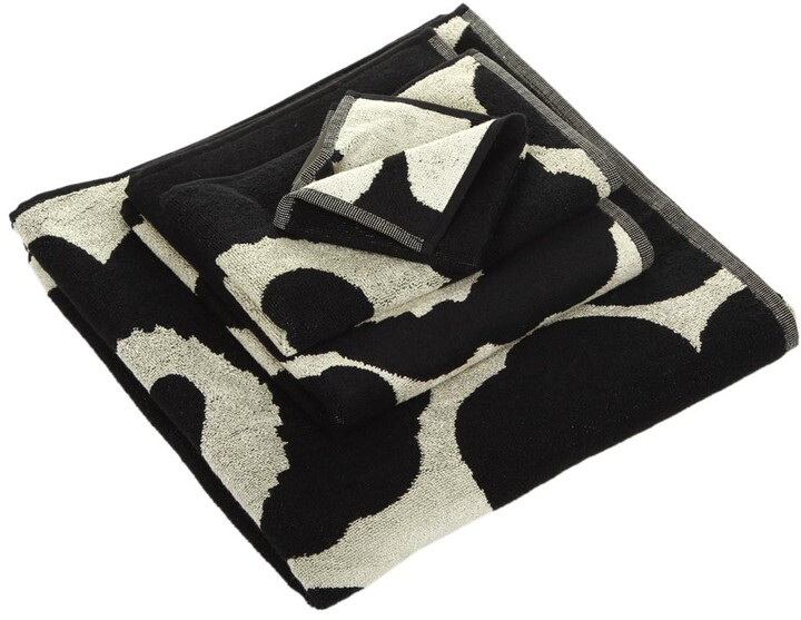 Unikko Towel - Black/Sand - Guest Towel