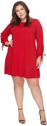 Karen Kane Plus Plus Size Tie Sleeve Swing Dress Women's Dress