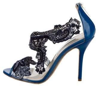 Oscar de la Renta Ambria Embellished Sandals w/ Tags