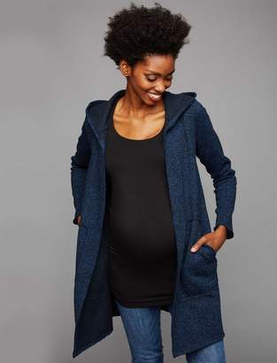 A Pea in the Pod Flat Welt Pockets Hacci Knit Maternity Jacket