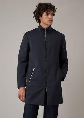 Giorgio Armani Reversible Water-Repellent Wool Gabardine Trench Coat
