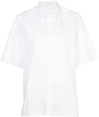 Wales Bonner paneled short sleeved shirt