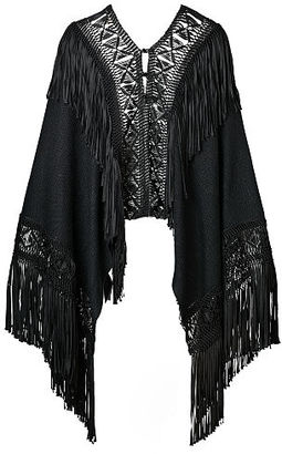Ralph Lauren Fringe Silk Poncho $1,990 thestylecure.com