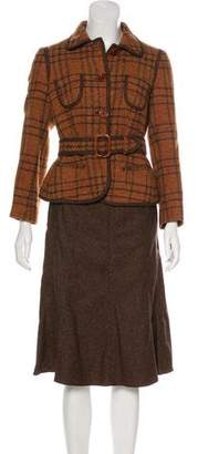 Etro Plaid Skirt Suit