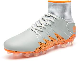 BARKOR Men's Athletic New Soccer Shoes Rubber Sole Spike Outdoor Sports Shoes Performance High top Non-Slip Breathable -45