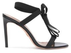 Hugo Boss Bow Tie Sandal Bow Tie Leather Sandal 8 Black $525 thestylecure.com