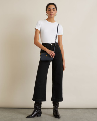 Jigsaw Wide Crop Contrast Stitch Jean