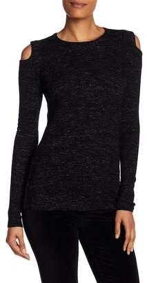 Current/Elliott The Melange Cold Shoulder Wool Blend Sweater