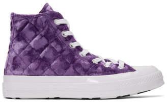 Converse Purple Golf le Fleur* Chuck 70 Hi Sneakers