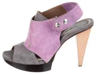 Marni Suede Square-Toe Sandals