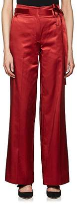 Helmut Lang WOMEN'S SATIN BELTED WIDE-LEG TROUSERS