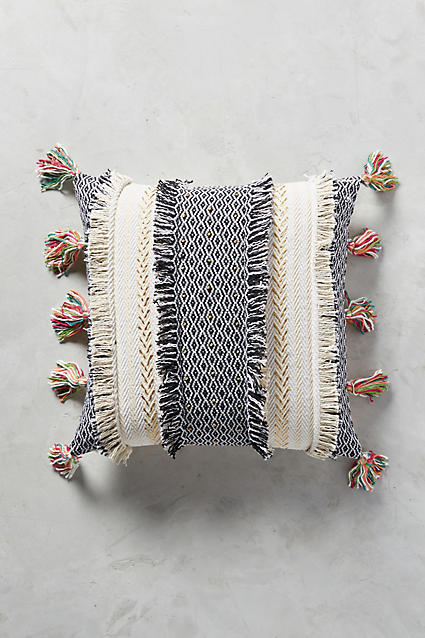 Anthropologie Anthropologie Tasseled Retrograde Pillow