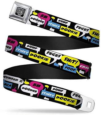 BUCKLE-DOWN INC. Unisex-Adults Buckle-Down Seatbelt Belt Crap Quote Regular