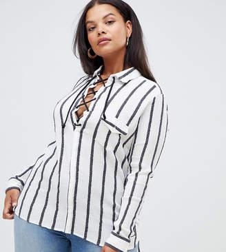 Alice & You Plus Stripe Shirt
