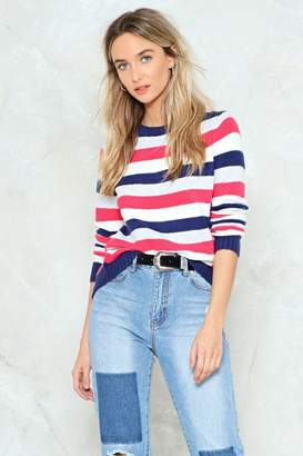 Nasty Gal Stripe Up the Crowd Knit Sweater