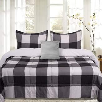 Buffalo David Bitton Sweet Home Collection Plaid Reversible Down Alternative 4 Piece Comforter Set