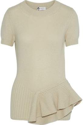 Lanvin Ruffled Ribbed Yak And Wool-Blend Sweater
