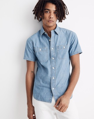 Madewell Chambray Short-Sleeve Button-Down Shirt