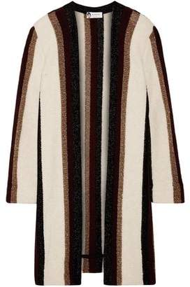 Lanvin Metallic Striped Intarsia-Knit Cardigan