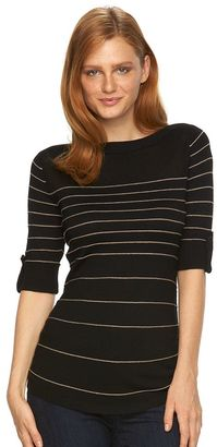 Women's Apt. 9® Tonal Striped Crewneck Sweater $40 thestylecure.com