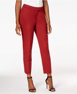 Anne Klein Twill Slim-Leg Pants, Created for Macy's