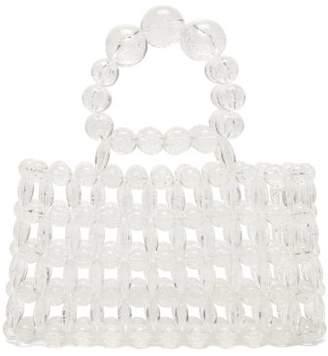 Cult Gaia Cora Top Handle Beaded Acrylic Bag - Womens - Clear