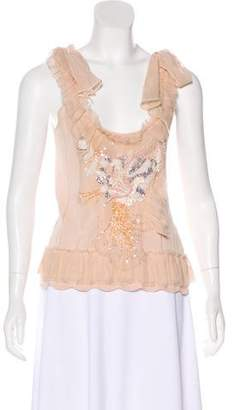 Christian Lacroix Silk Embellished Top