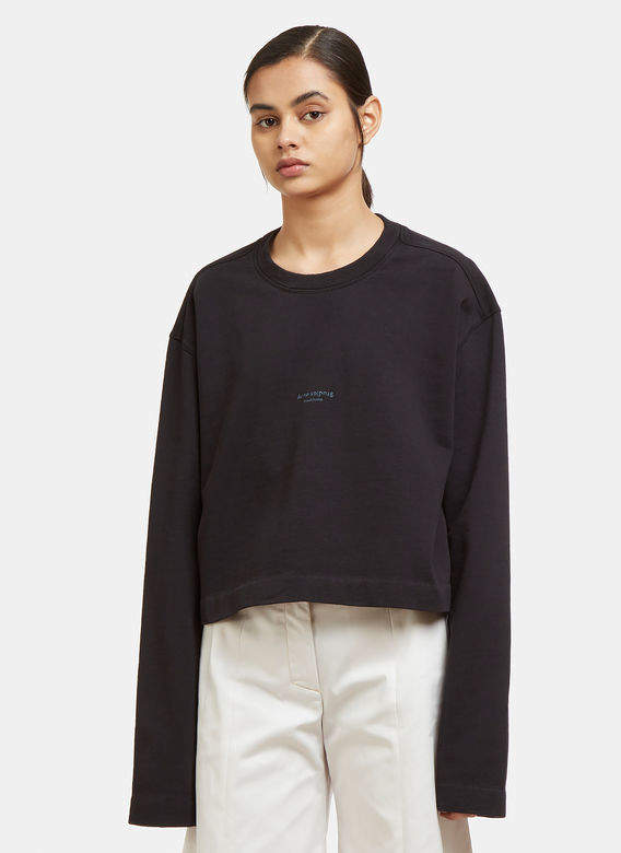 Cropped Odice Sweatshirt in Black