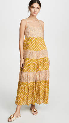 Madewell Tiered Tie Back Midi Dress