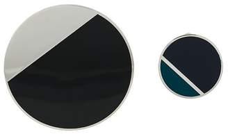 Lanvin geometric contrast earrings