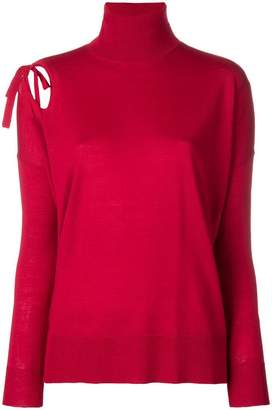 P.A.R.O.S.H. tie shoulder roll neck sweater