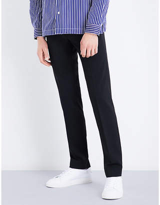 Sandro Cropped high-rise wool-blend trousers