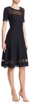 Oscar de la Renta Illusion Knit Dress