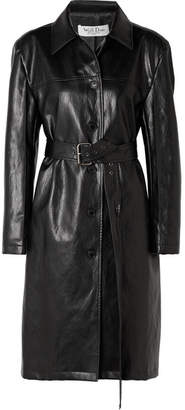 we11done - Faux Leather Coat - Black