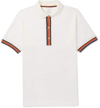 Paul Smith Stripe-Tipped Cotton-Piqué Polo Shirt
