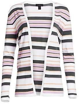 Saks Fifth Avenue Women's Viscose Elite Open Front Striped Cardigan
