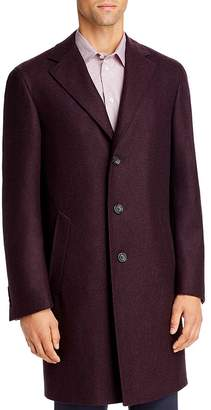 Canali Kei Mélange Wool Classic Fit Topcoat