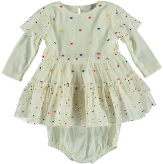 Stella McCartney Tiered Tulle Multicolored Heart Dress, Size 6-36 Months